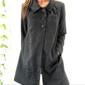Apt9 Brocade Coat Jacket Romantic Victorian Black